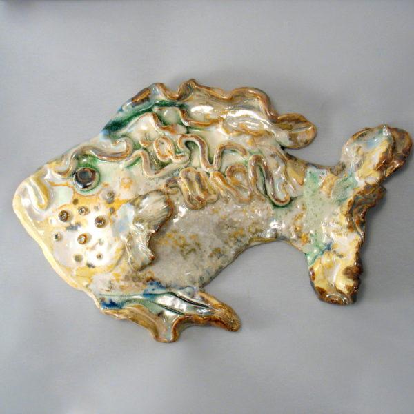 ryba ceramiczna beżowa