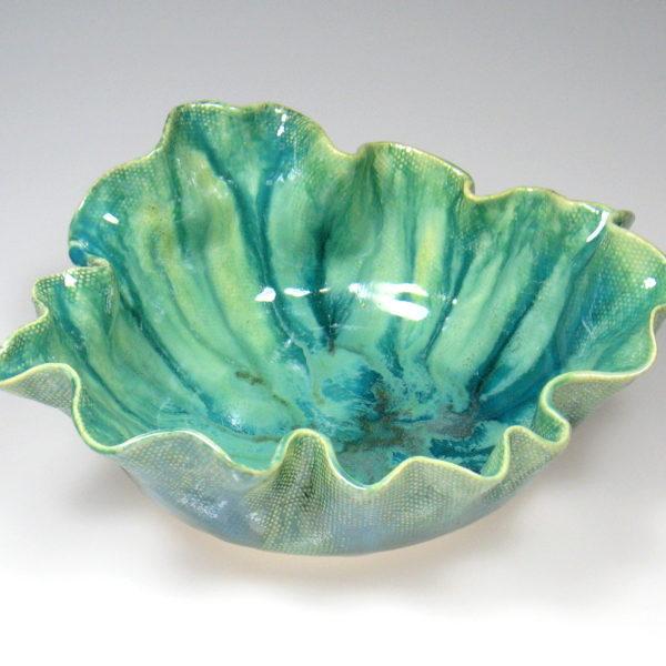 Misa ceramiczna w odcieniach turkusu