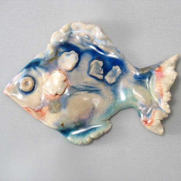 Ryba ceramiczna pastelowa,