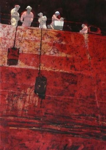 Powrót do domu- batik na bawełnie - Urszula Dulewicz-