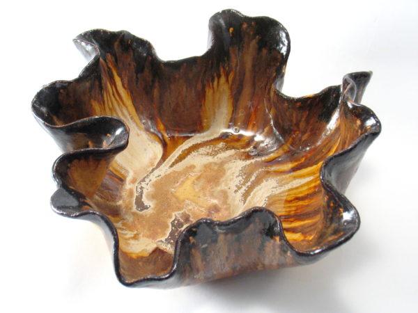 Misa ceramiczna brązowo beżowa