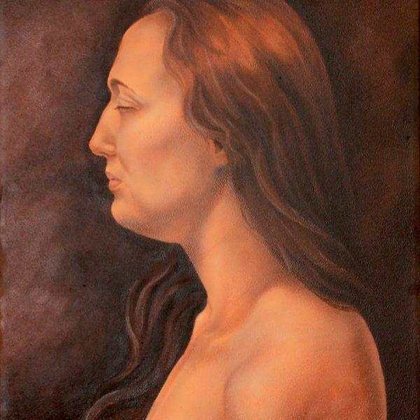 Portret kobiety - Olej na płótnie -Arkadiusz Gieniusz