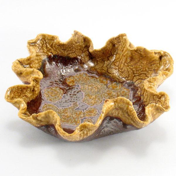 Miska ceramiczna miodowa o organicznym kształcie będzie interesującą ozdobą domu, Niepowtarzalny egzemplarz, doskonały prezent. Gotowy do wysyłki