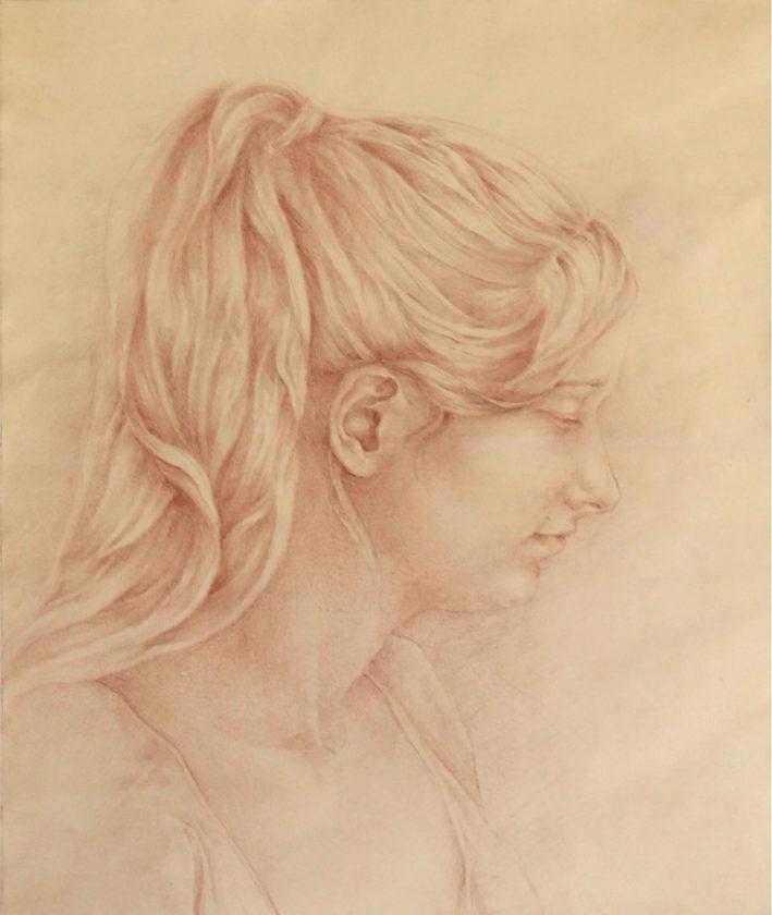 Portret Eweliny - Rysunek na gruntownym papierze - Arkadiusz Gieniusz