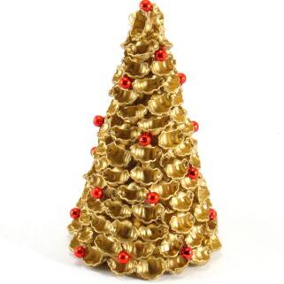 Choinka z makaronu złota - muszelki