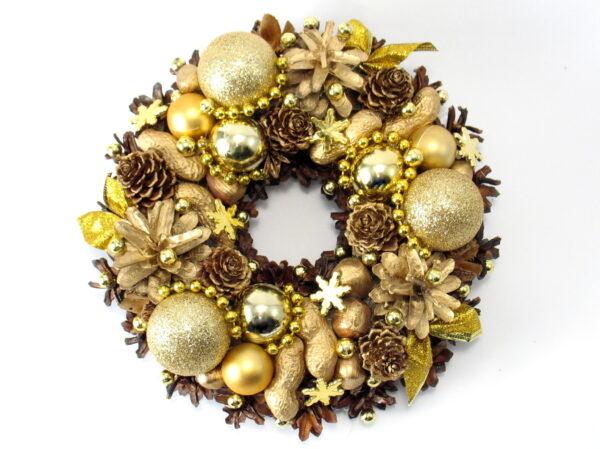 Mały złoty wianek świąteczny