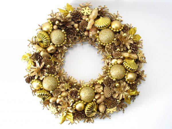 Złoty wianek Bożonarodzeniowy