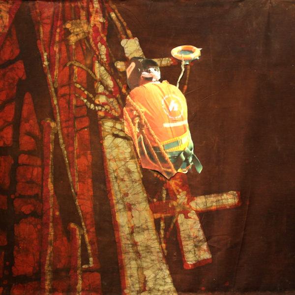 Za burtą - batik na bawełnie - Urszula Dulewicz