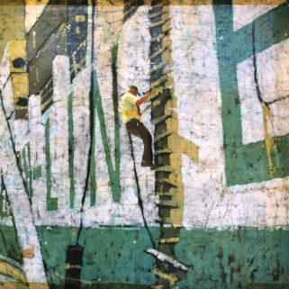 Pilot - batik na bawełnie - Urszula Dulewicz