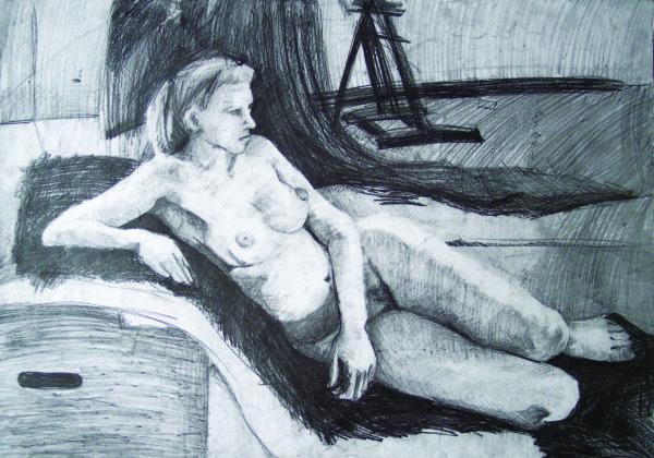 Akt leżący 2 - Urszula Dulewicz