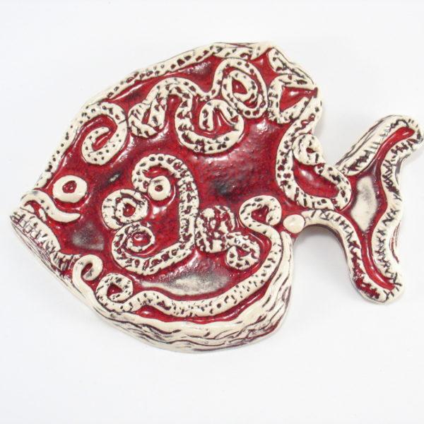 Ryba ceramiczna czerwona