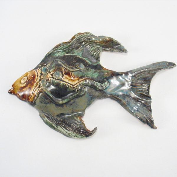 Ryba ceramiczna na ścianę