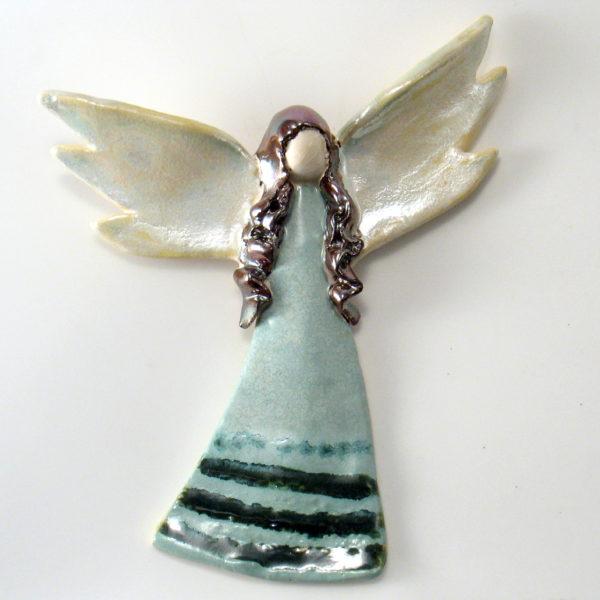 Anioł ceramiczny miedzianowłosy