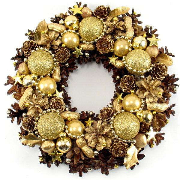 Wianek świąteczny złoty