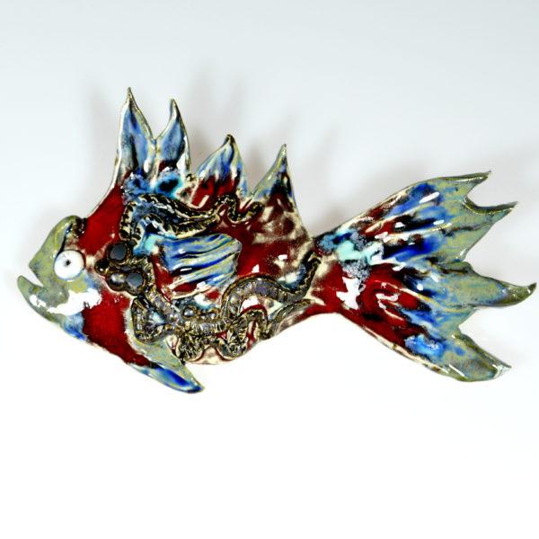 Ryba ceramiczna z ostrymi płetwami