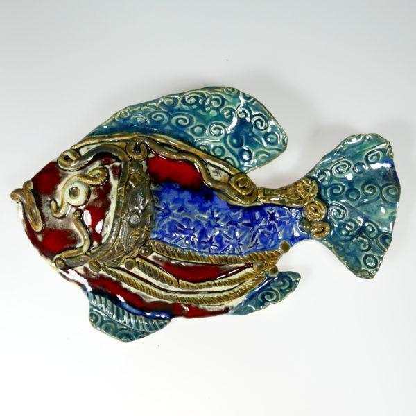 Ryba ceramiczna wielobarwna