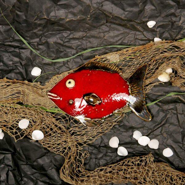 Rybka ceramiczna - Czerwona