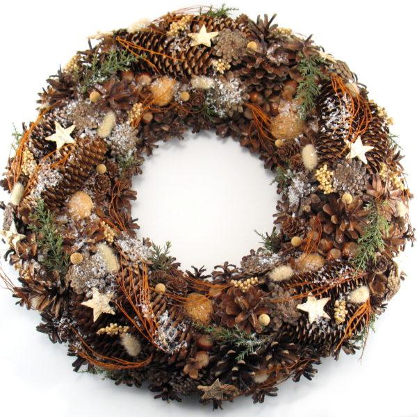 Wieniec świąteczny leśny naturalny XXL