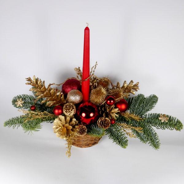 Stroik świąteczny z jodły
