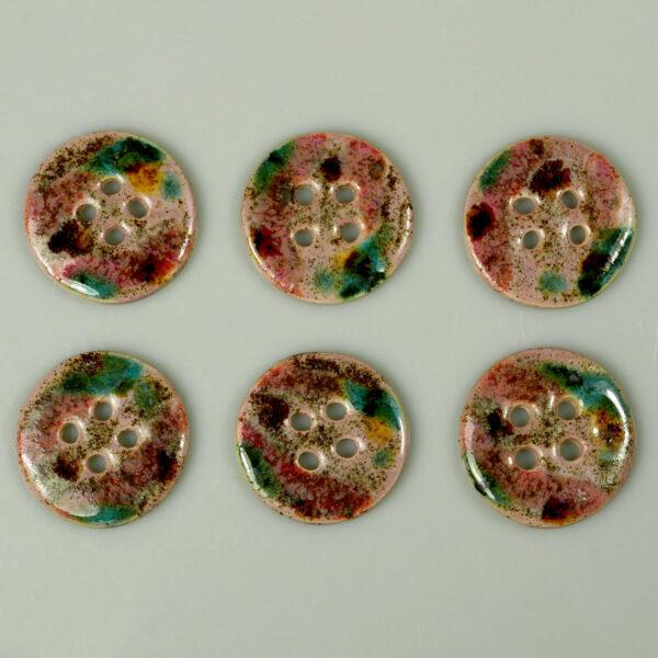 Guzik ceramiczny okrągły kolorowy