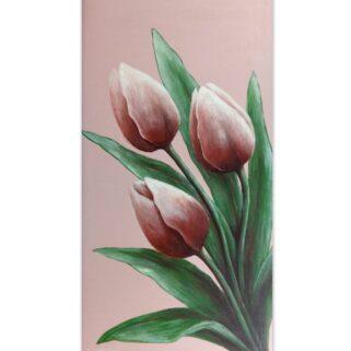 Trzy tulipany- akryl na płycie HDF -Dorota Waberska