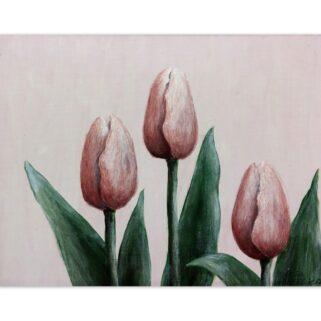 Trzy tulipany - akryl na płycie HDF -Dorota Waberska