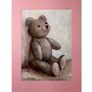 Miś zabawka - akwarela na papierze -Dorota Waberska