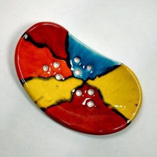 Mydelniczka ceramiczna, ręcznie wykonana z gliny