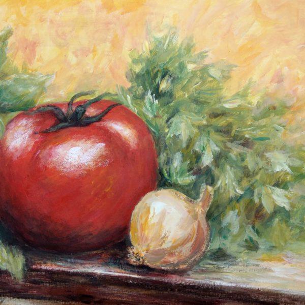 Warzywa na stół - Akryl na papierze -Dorota Waberska
