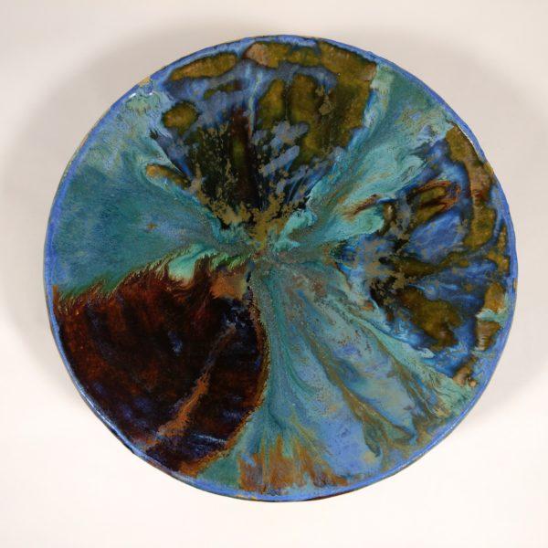 Patera ceramiczna kolory morza