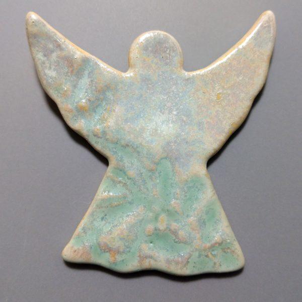 Aniołek ceramiczny seledynowy