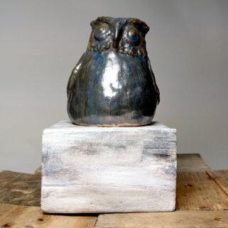 Sowa szara - figurka ceramiczna prezent dla kolekcjonerów