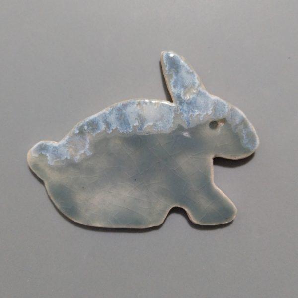 Zajączek ceramiczny magnes 2