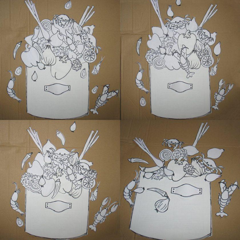 Projekt płaskorzeźby ceramicznej