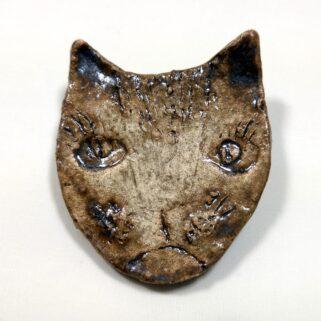 Broszka ceramiczna kot