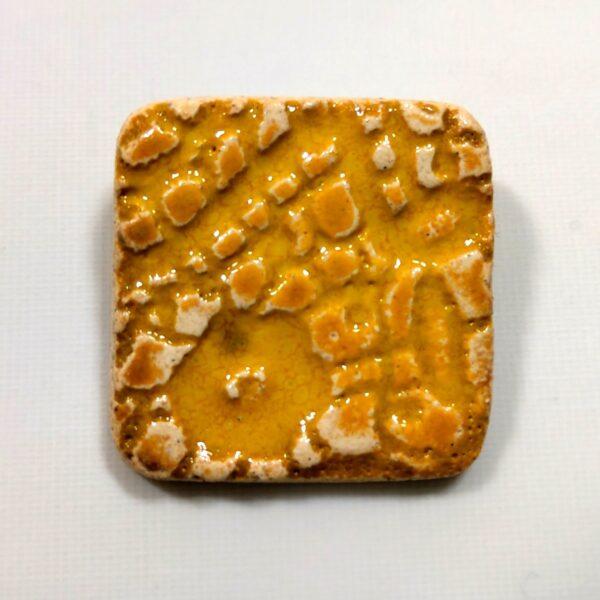 Broszka ceramiczna - Żółta Łąka