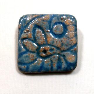 Broszka ceramiczna - Niebieska Koronka