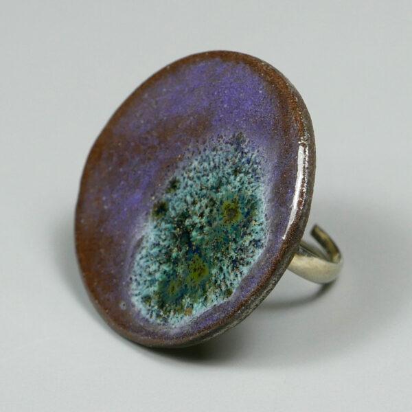 Pierścionek ceramiczny Mgławica
