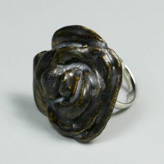 Pierścionek ceramiczny Hebanowa Róża