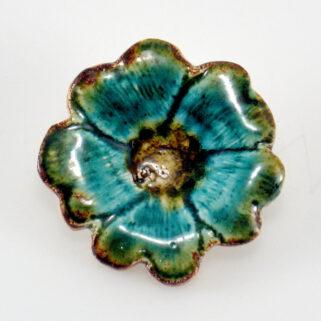 Broszka ceramiczna Egzotyczny Kwiat - wykonany w jednym egzemplarzu, modny dodatek do ubrań,