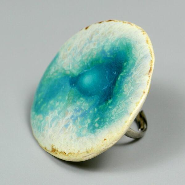 Pierścionek ceramiczny Troszeczkę Nieba