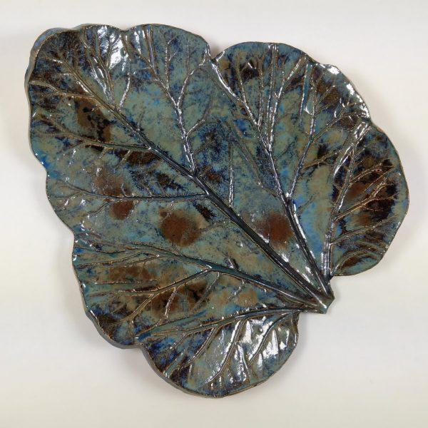 Paterka ceramiczna - Błękitny Liść