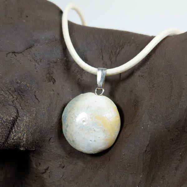 Naszyjnik ceramiczny - Perłowy Drops
