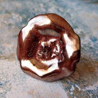 Pierścionek ceramiczny - Metaliczny Blask