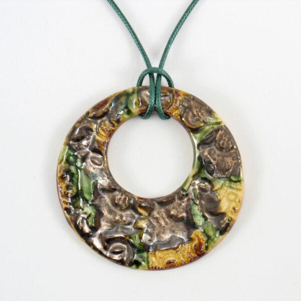 Duży wisior ceramiczny Natura