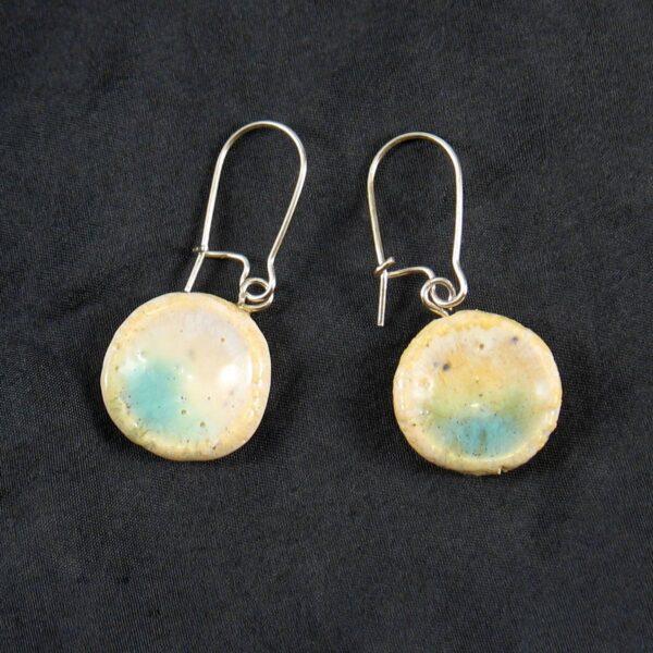 Kolczyki ceramiczne Odrobina Błękitu