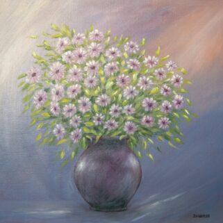 Polne Kwiaty - Olej na płótnie – Dorota Waberska - wystrój wnętrz