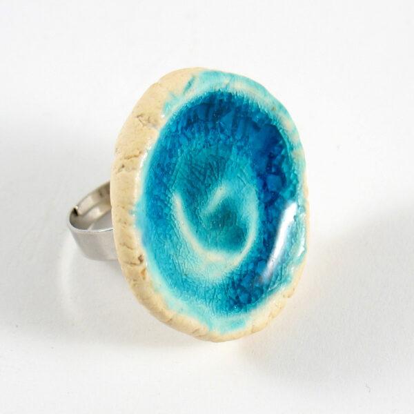Pierścionek ceramiczny Energia Błękitu