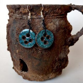 Kolczyki ceramiczne - Turkusowa Para