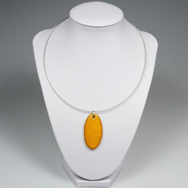 Wisior ceramiczny Pomarańczowy Owal